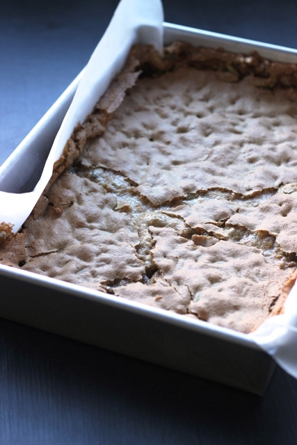 A close up of a tray of pepita bars
