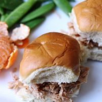 Sweet and Sour Pulled Chicken Sandwiches