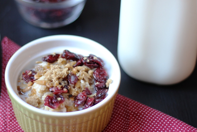Cranberry-Sunflower Oatmeal
