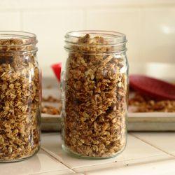 jars of Granola on counter