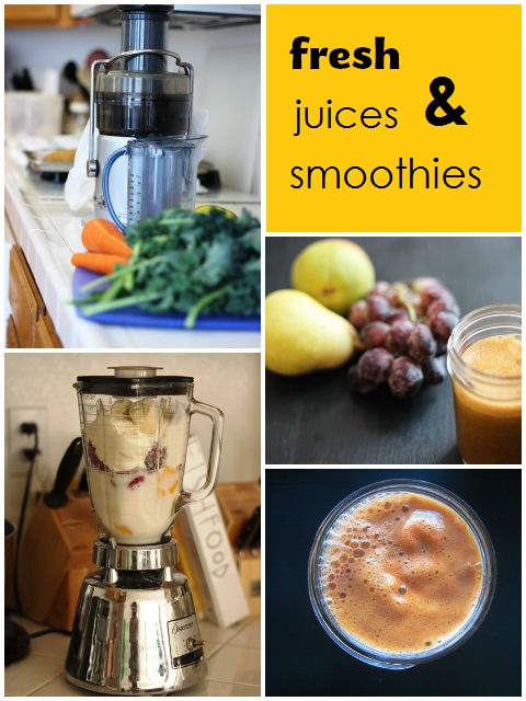 Favorite Juices & Smoothies - Tips and recipes for making juices and smoothies easier at home.