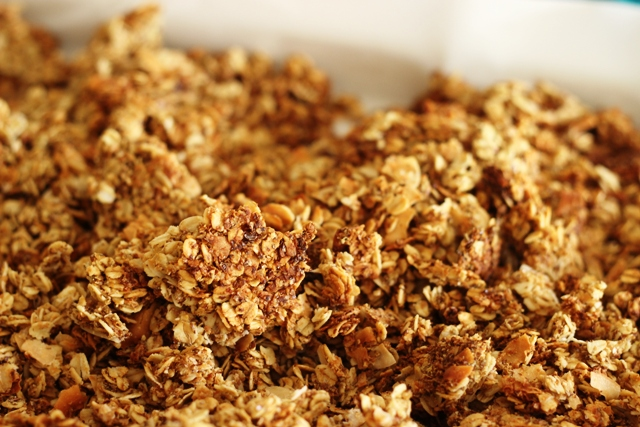 Not Too Sweet Granola - Start the day off right with homemade granola, not too sweet, made with lots of grainy goodness.