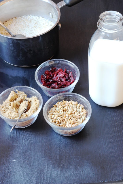 Oatmeal Bar with Toppings