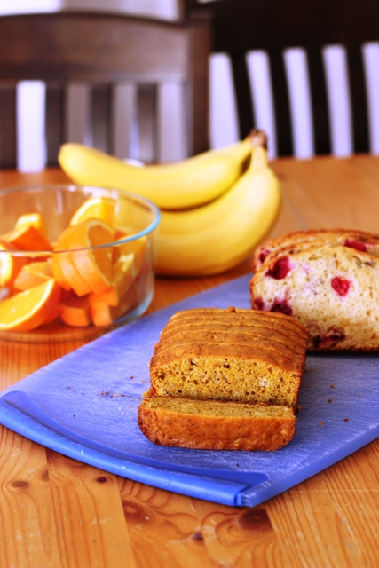 Cranberry Bread and Fruit on table