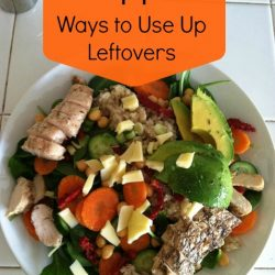 Use Up Those Leftovers -  If you use up your leftovers, you will save money and waste less. Sounds like a plan to me!