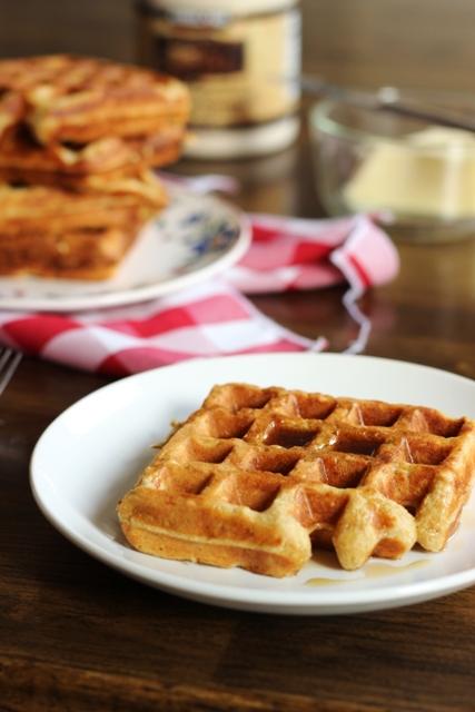 Oatmeal Waffle on a plate