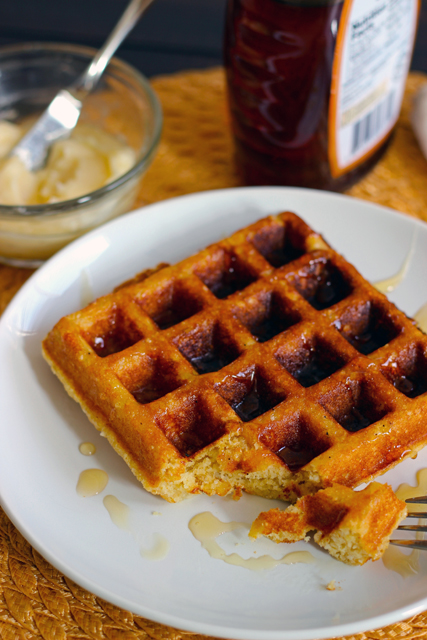 Buttermilk Corn Waffles with Honey Butter copy