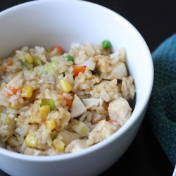 Chicken Fried Rice - Got leftover cooked chicken and rice? Then you've got the makings of a great meal.