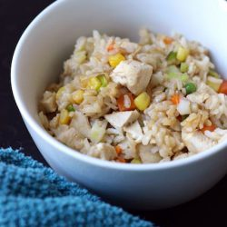 Chicken Fried Rice -  Got leftover cooked chicken and rice? Then you