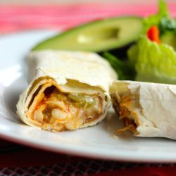 Green Chile Burritos - Make up a batch of these Green Chile Burritos for supper or to stash in the freezer at a later date. Either way, you