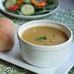 Velvety Vegetable Soup - Homemade blended soups can be a delicious and economical way to get enough vegetables in your diet. They are also a great way to use up leftover vegetables.