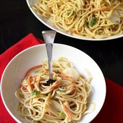 bowl of sunbutter noodles