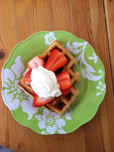 whipped cream waffle