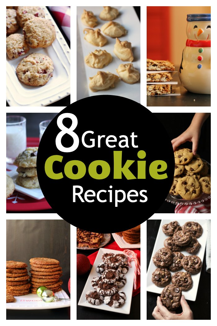 A bunch of different types of cookies