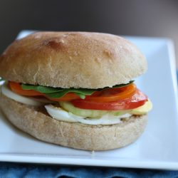 Egg Plus Salad Sandwiches - Go beyond the egg salad sandwich with this egg + salad sandwich. Hard cooked eggs, vinaigrette, and abundant veggies make a delicious and economical meal for Sandwich Night.
