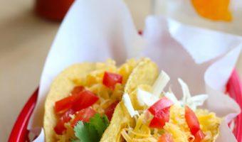 a basket of tacos