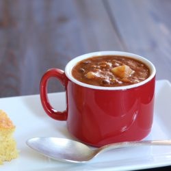Crockpot Chili Bean Soup - Spend ten minutes prepping tonight