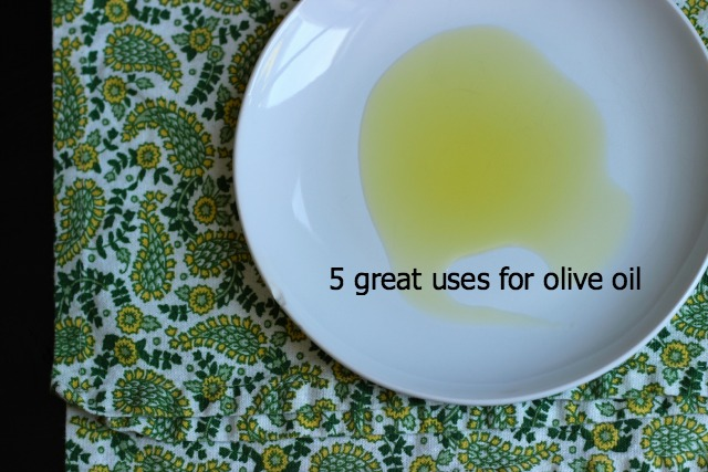 olive oil on a plate