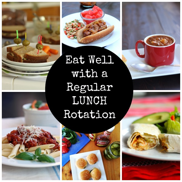 Eat Well with a Regular Lunch Rotation - Planning a regular rotation of lunch items can make meal planning and prep loads easier.