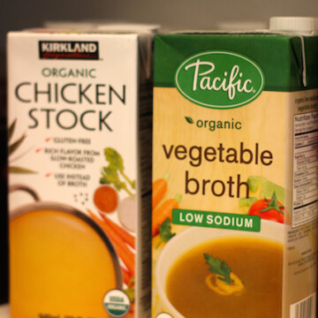boxes of stock in Pantry