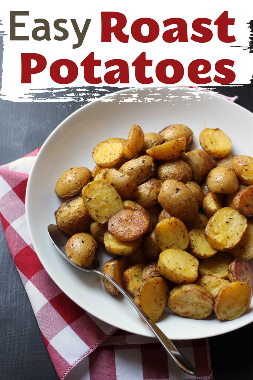 A plate of roast potatoes