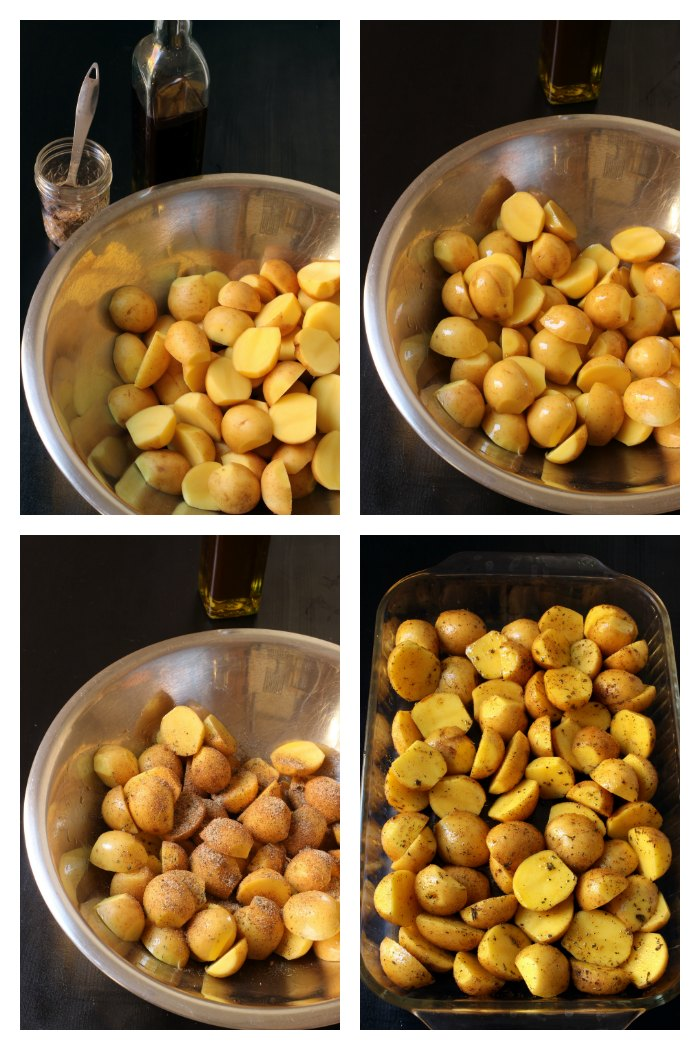 step by step photos of roast potatoes