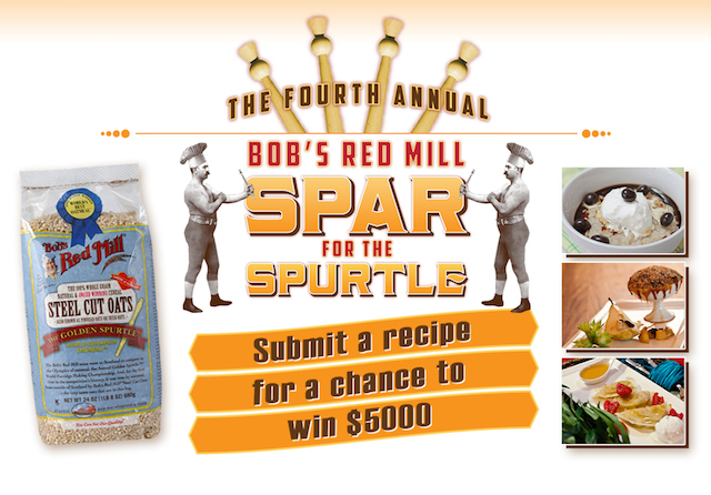 Ready to Spar for the Spurtle? - Enter to win $5000 in Bob's Red Mill Spar for the Spurtle recipe contest.