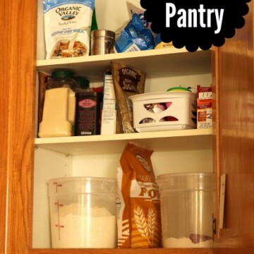 open baking cupboards