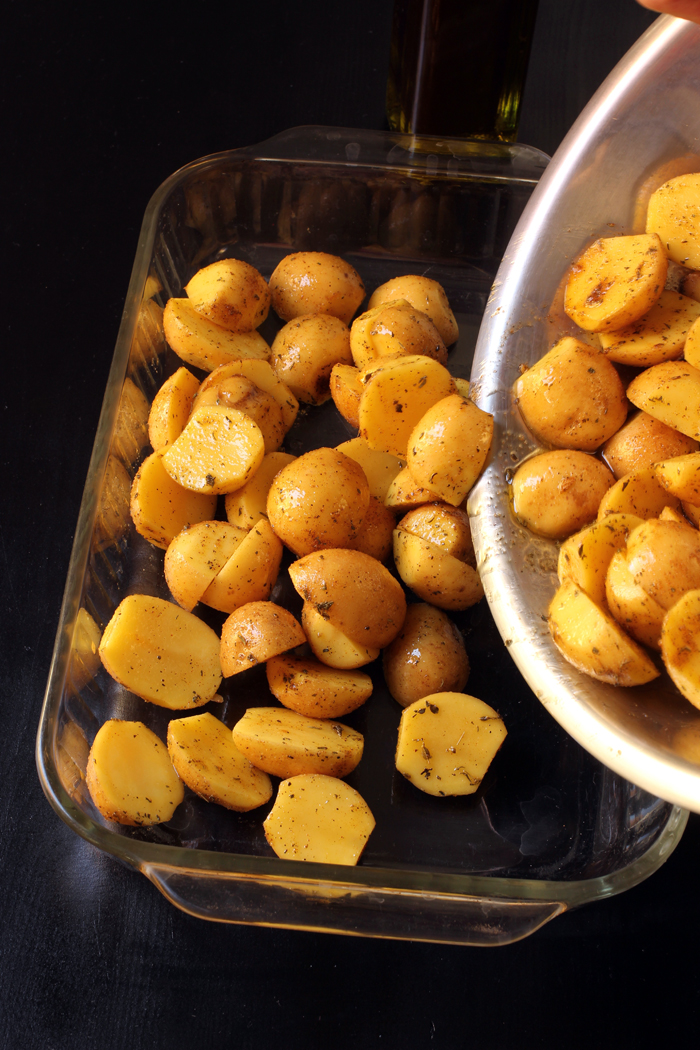 potatoes tossed with seasoned salt