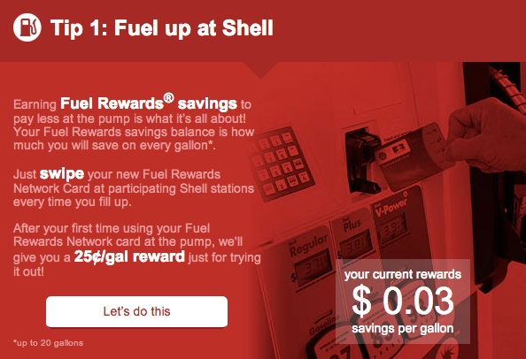 Save Money on Gas with Shell Fuel Rewards Network
