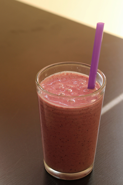 Cherry Berry Banana Smoothie