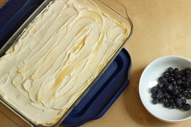 icebox cake in baking dish