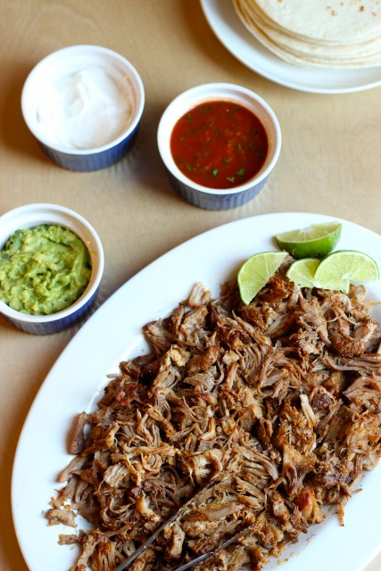 Slow Cooker Pork Tacos - These easy, slow cooker pork tacos allow you to escape the kitchen and come home to a delicious meal all ready to go.