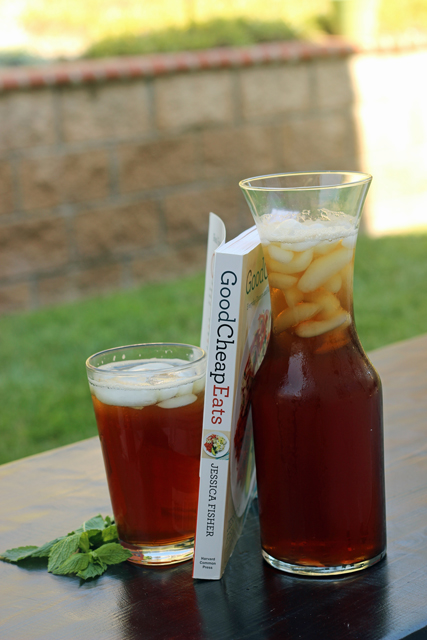 MinTea - Mix up a batch of this minted ice tea for a delicious and refreshing drink that costs just pennies!