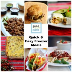 Quick & Easy Meals to Freeze - Save money and eat better with these quick and easy freezer meals.