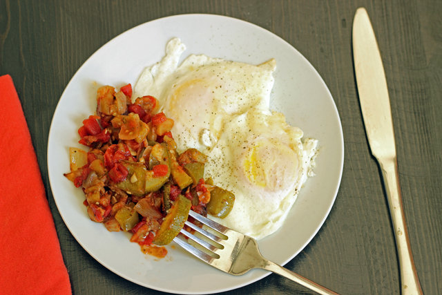 Oven Roasted Ratatouille - Enjoy the flavors of summer eggplant and squash in this easy oven-roasted ratatouille.
