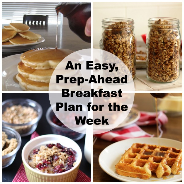 Make-Ahead Breakfast Plan for the Week - Ready to give your mornings a break? This prep-ahead breakfast plan will help you eat well and get on with the day.