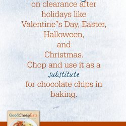 Use Marked-Down Holiday Chocolate