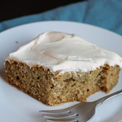 A piece of zucchini cake on a plate