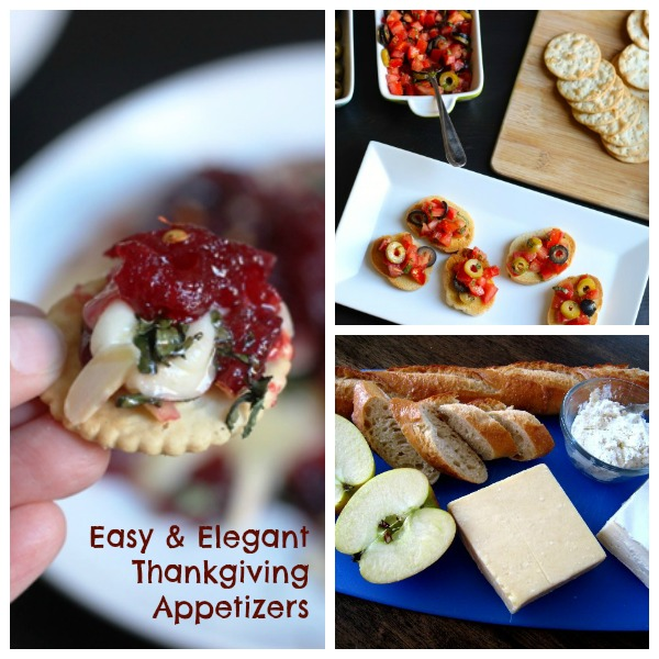 Easy and Elegant Thanksgiving Appetizers - Have a selection of appetizers on hand for your family and guests on Thanksgiving so no one gets hangry!