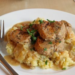 Pork Medallions with Sherried Shallot Sauce - You