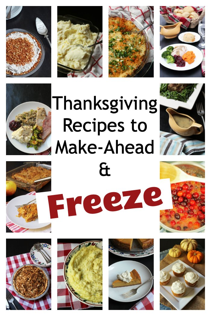 collage of thanksgiving recipes