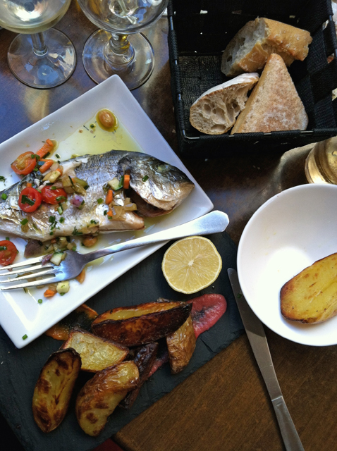 collioure fish lunch trim