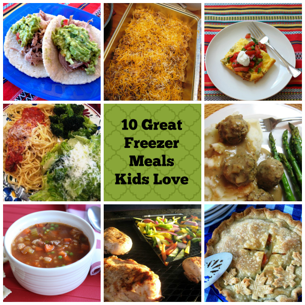 10 Great Freezer Meals that Kids Love | GoodCheapEats.com - We know that freezer cooking is great for mom, but it can be great for kids too if you choose your recipes wisely. These freezer cooking recipes are kid-tested and mother-approved.