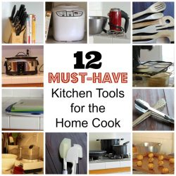 collage of must-have kitchen tools