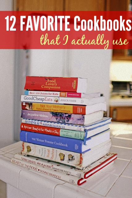 12 Favorite Cookbooks that I Actually Use - Looking for easy, family-friendly cookbooks with tasty recipes? Here are my 12 favorite cookbooks or books about food that I use regularly. Add one to your collection and chuck five that you never cook from.