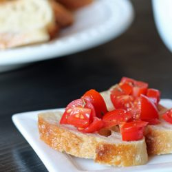 A plate of Bruschetta