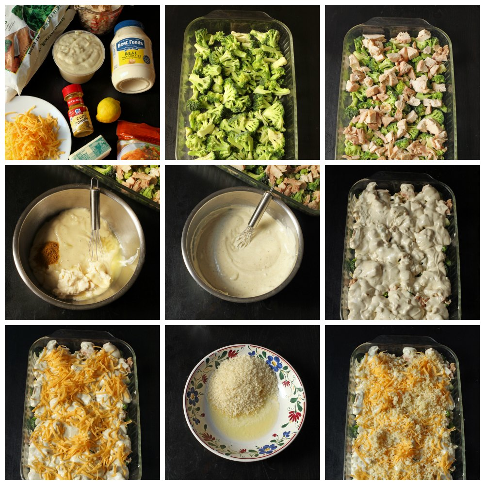 steps for making chicken curry casserole