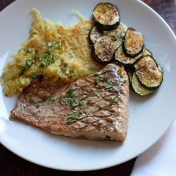 Grilled Salmon and Sweet Potatoes