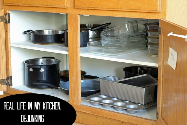 Real Life in my Kitchen: Dejunking - Dejunking your kitchen can make it more fun to cook in as well as prettier to look at.